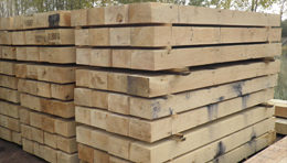 Softwoods and oak sleepers
